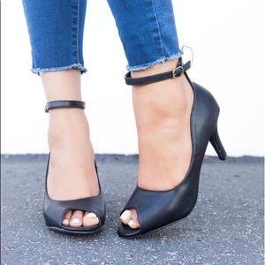New Cute Peep Toe Heels